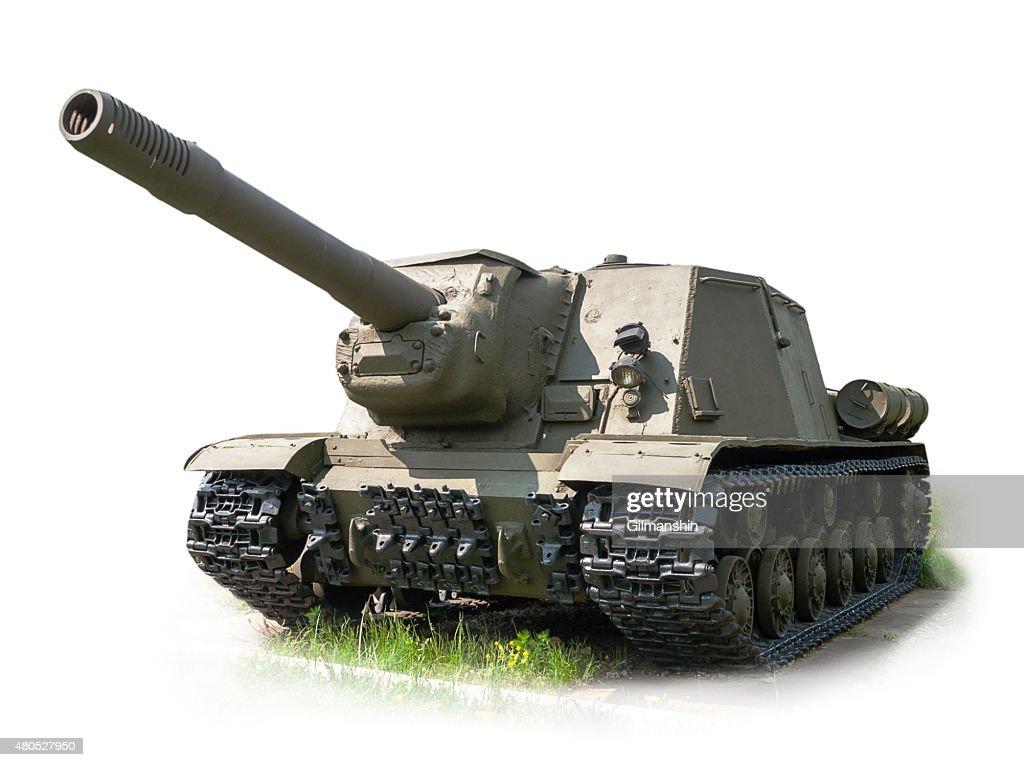 Russian self-propelled artillery gun ISU152 : Bildbanksbilder