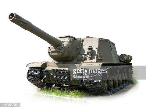 Russian self-propelled artillery gun ISU152 : Stockfoto