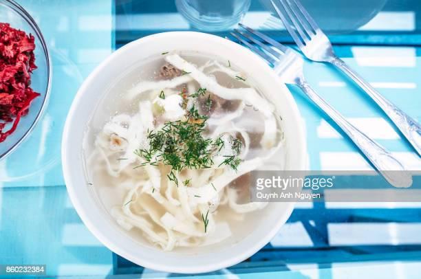 Russian Siberia Buryat noodle soup