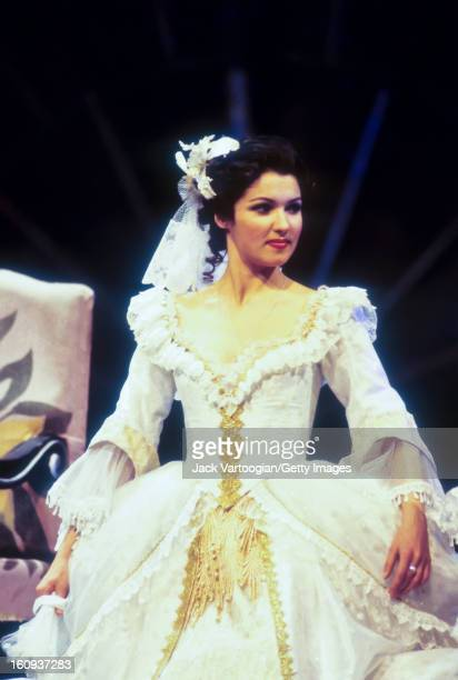 Russian soprano Anna Netrebko during the final dress rehearsal of the Kirov Opera/Vladislav Pazi production of Sergei Prokofiev's 'Betrothal in a...