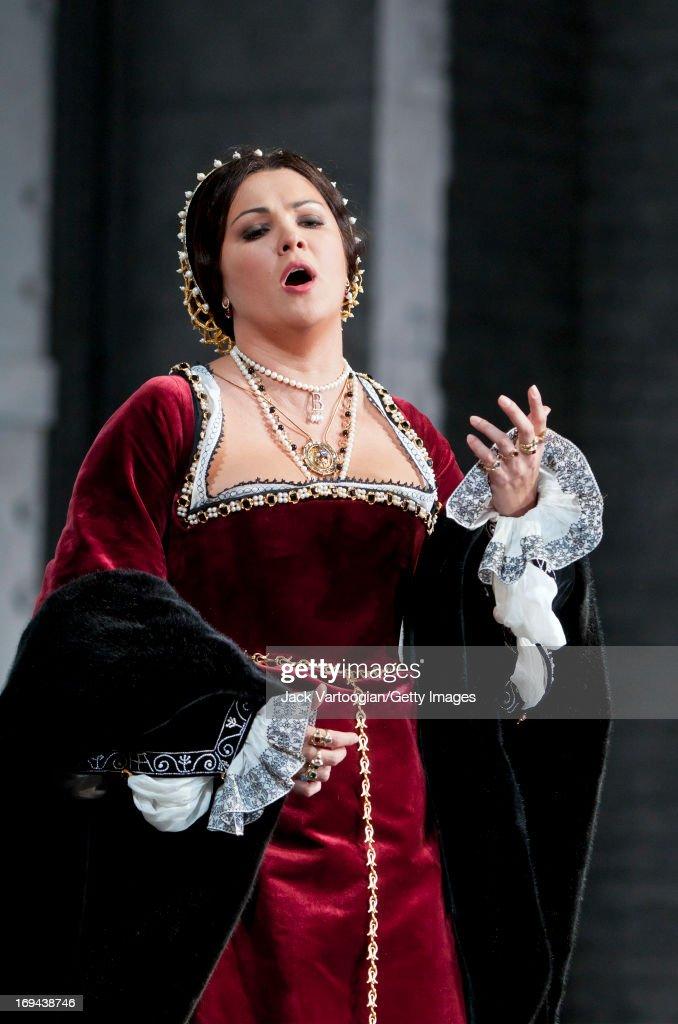 Russian soprano Anna Netrebko performs during the final dress rehersal in the David McVicar/Metropolitan Opera season premiere production of 'Anna...