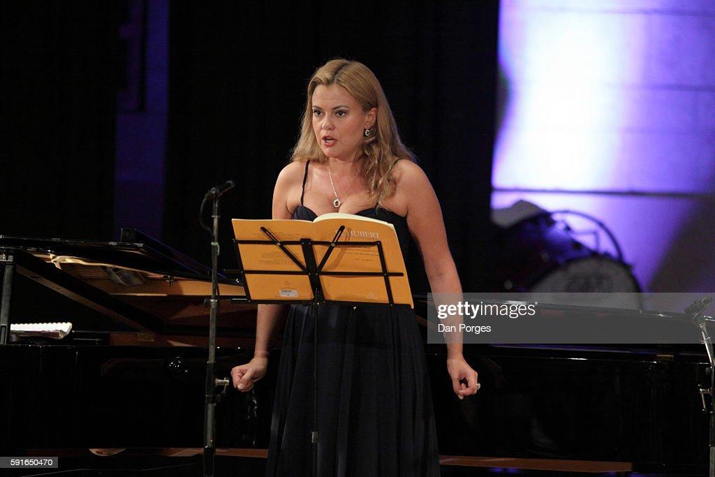 Russian soprano Anna Samuil performs during a recital at 16th Jerusalem International Chamber Music Festival in the Jerusalem International YMCA...