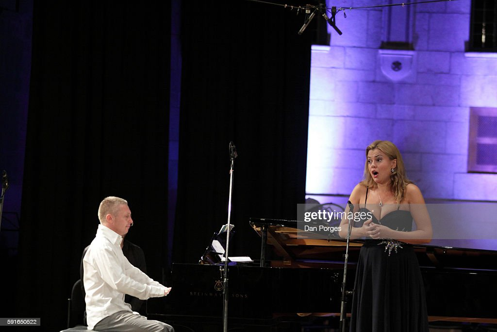 Russian soprano Anna Samuil performs with pianist Daniel Gortler during a recital at 16th Jerusalem International Chamber Music Festival in the...
