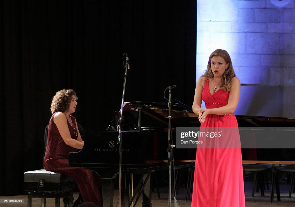Russian soprano Anna Samuil performs with pianist Elena Bashkirova during a recital at 16th Jerusalem International Chamber Music Festival in the...