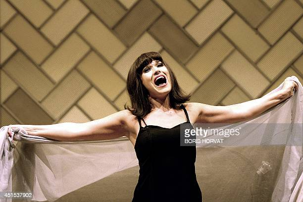 Russian soprano Olga Peretyatko playing Fiorilla performs in the opera 'Il Turco In Italia' by Gioacchino Rossini directed by Christopher Alden and...