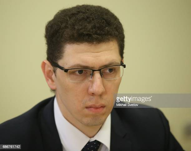 Russian Space Systems Vice General Directov Yevgeny Nesterov attends the meeting with top managers of space industry sector on May 22 2017 in Sochi...