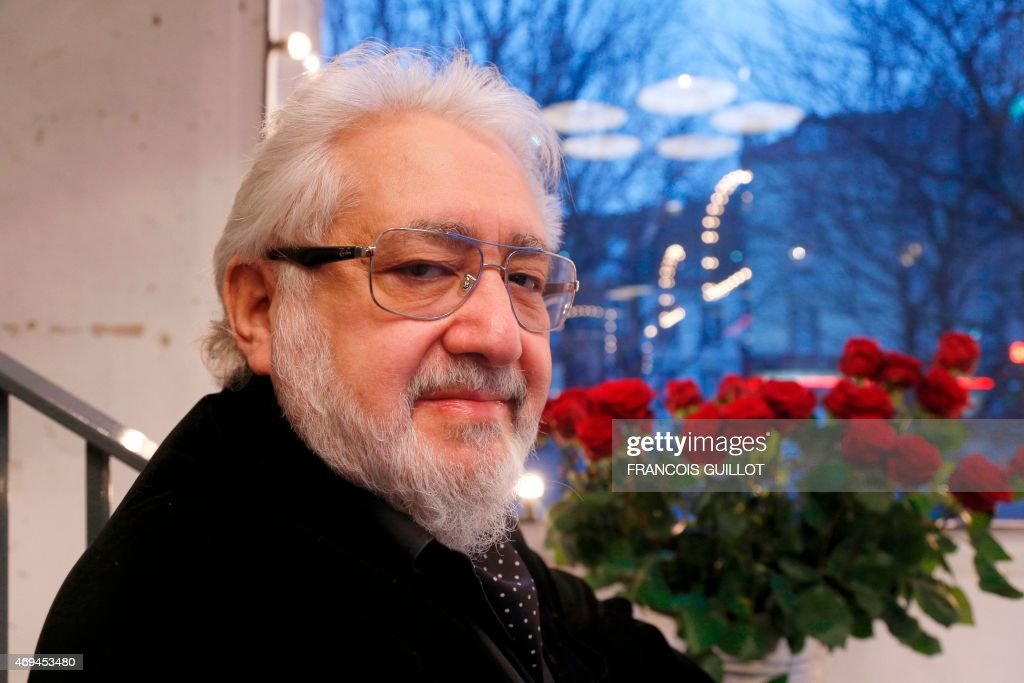 Russian stage director Lev Dodine poses on March 19, 2015 at the <a gi-track='captionPersonalityLinkClicked' href=/galleries/search?phrase=Gerard+Philipe&family=editorial&specificpeople=4502862 ng-click='$event.stopPropagation()'>Gerard Philipe</a> in Saint-Denis, outside Paris.