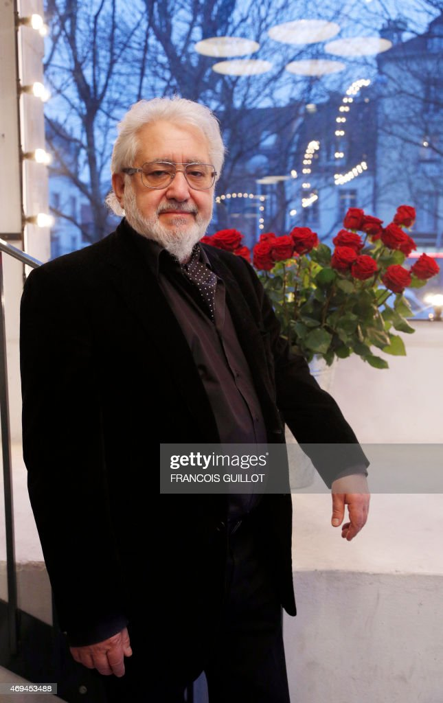 Russian stage director Lev Dodine poses on March 19, 2015 at the <a gi-track='captionPersonalityLinkClicked' href=/galleries/search?phrase=Gerard+Philipe&family=editorial&specificpeople=4502862 ng-click='$event.stopPropagation()'>Gerard Philipe</a> in Saint-Denis, outside Paris. AFP PHOTO / FRANCOIS GUILLOT