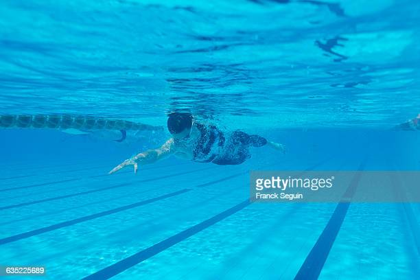 Russian swimmer Aleksandr Popov during a freestyle event | Location Canet France