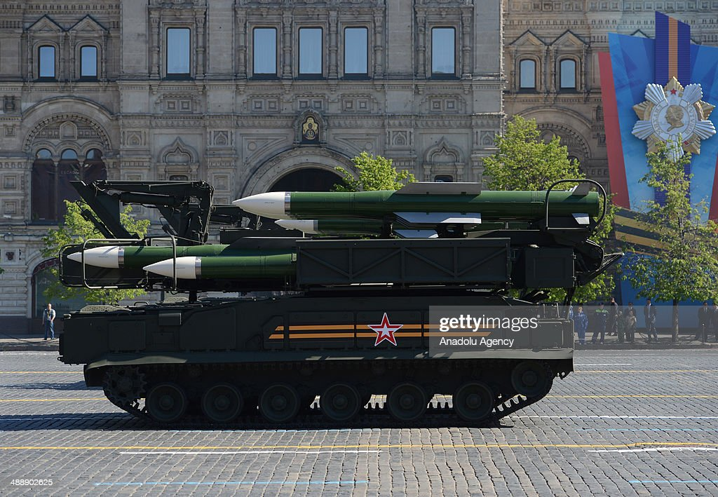 Russian tank during the military parade at Victory Day celebrations also known '9 may victory' which marks the Soviet Union's victory over Nazi...