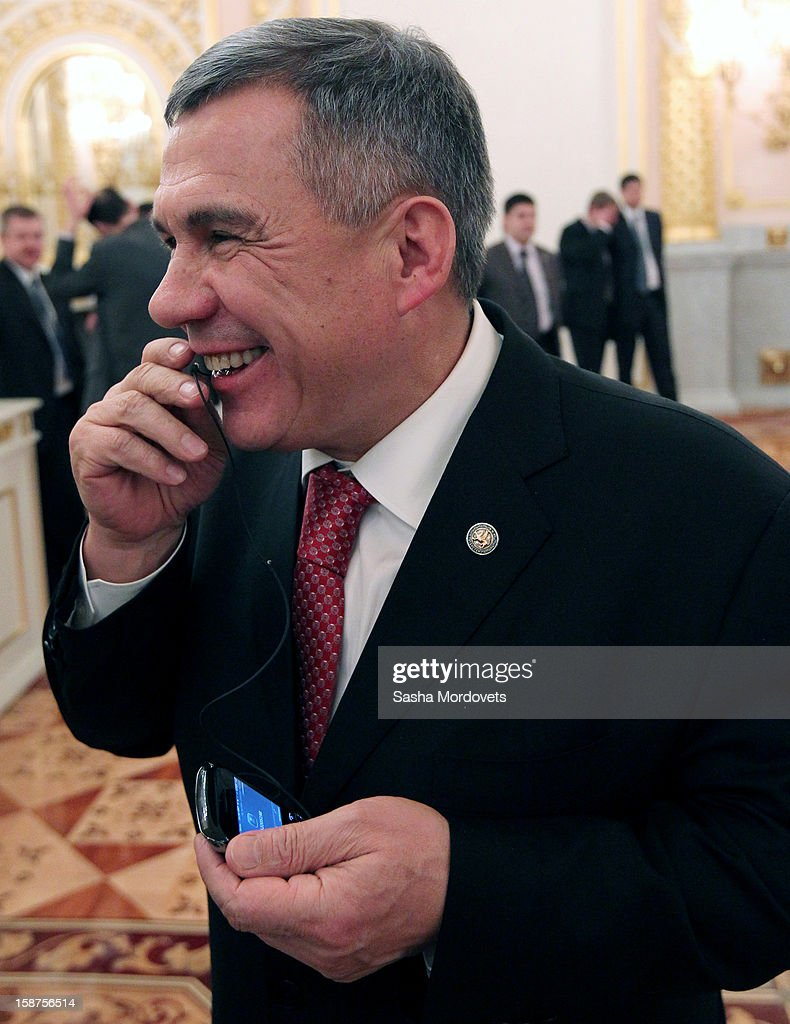 Russian Tatarstan Republic President Rustam Minnikhanov attends a State Council meeting at Grand Kremlin Palace on December 27, 2012 in Moscow, Russia. During the meeting Russian President Vladimir Putin said that he will sign a bill that will ban Americans from adopting Russian children.