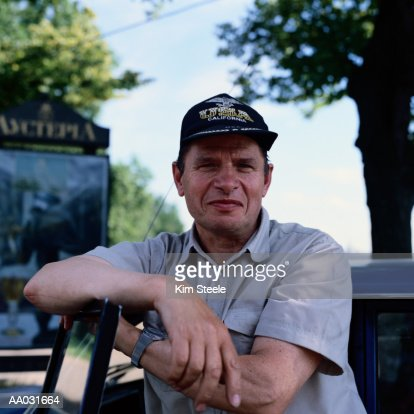 Russian Taxi Driver : Stock Photo