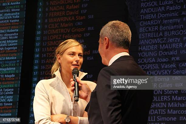 Russian tennis player Maria Sharapova seen during the draw for Roland Garros 2015 French Open Tennis championships in Paris France on May 22 2015