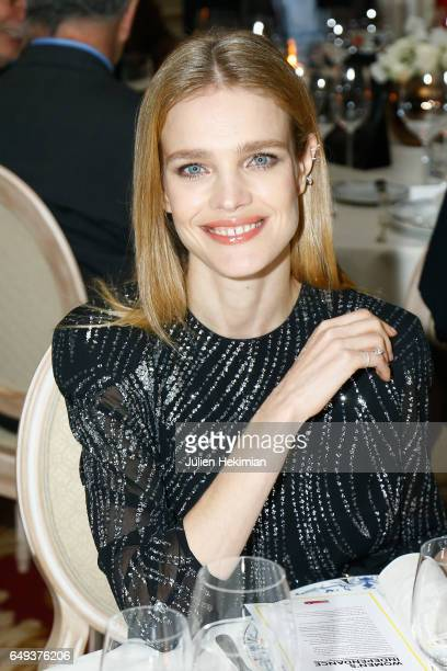 Russian Top Model Natalia Vodianova attends the Etam Dinner as part of the Paris Fashion Week Womenswear Fall/Winter 2017/2018 on March 7 2017 in...