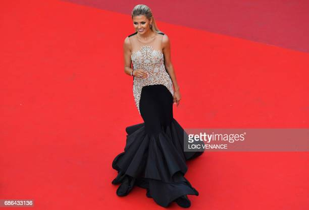 Russian TV presenter and model Victoria Bonya arrives on May 21 2017 for the screening of the film 'The Meyerowitz Stories ' at the 70th edition of...