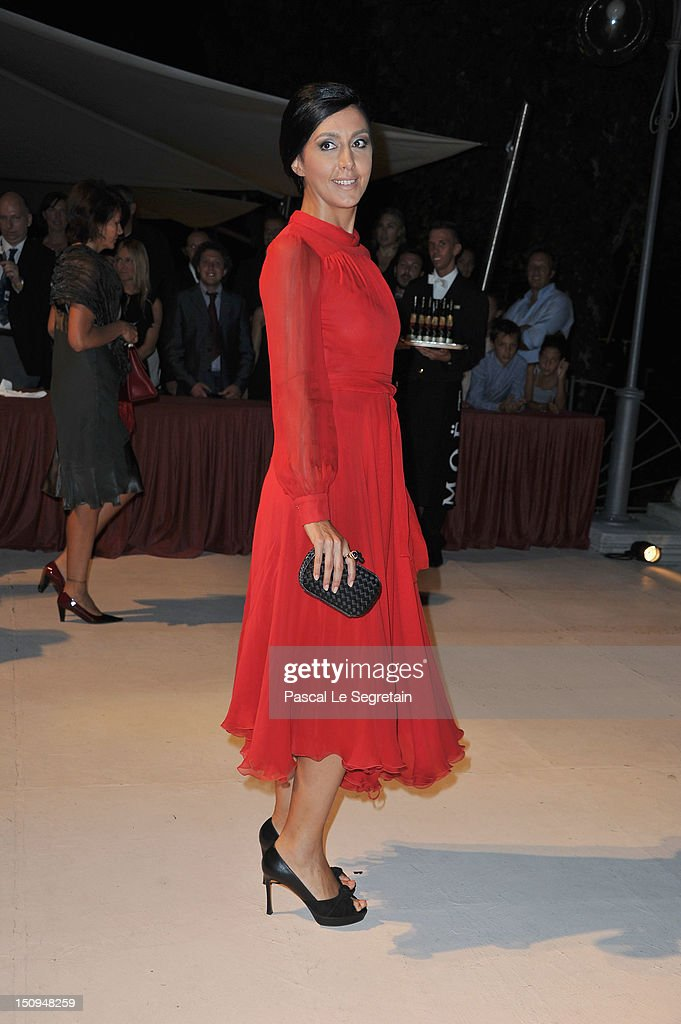 Russian TV presenter Katya Mtsitouridze attends the Opening Ceremony Dinner during the 69th Venice International Film Festival at Palazzo del Cinema on August 29, 2012 in Venice, Italy.