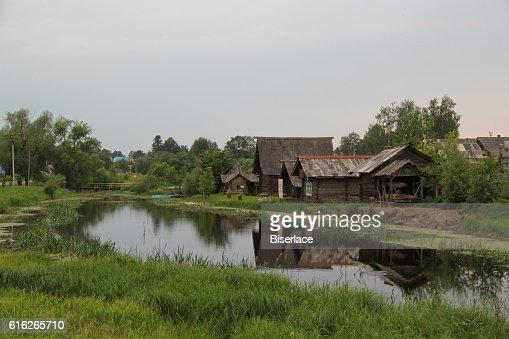 Russian village : Stock Photo