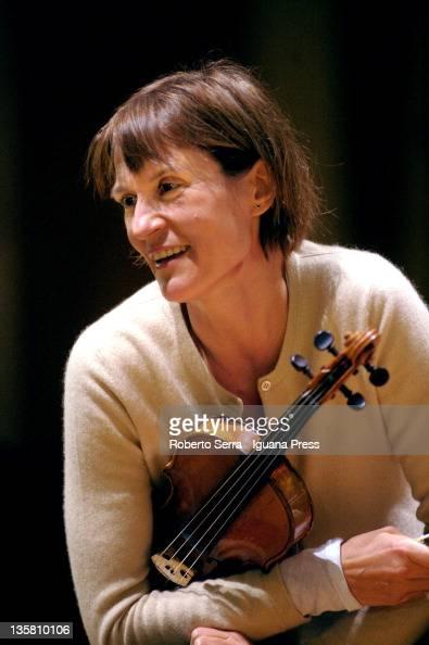 Russian violinist Victoria Mullova performs...