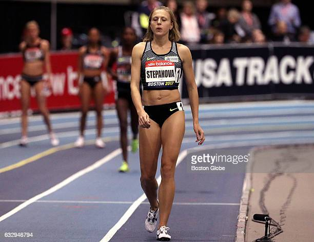 Russian whistleblower Iuliia Stepanova returned to the track to compete in the women's 800 meter race in the New Balance Grand Prix at the Reggie...