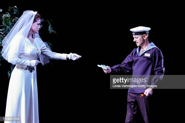 Russianborn American dancer and actor Mikhail Baryshnikov and Pilar Witherspoon perform in 'Forbidden Christmas or The Doctor and the Patient' at the...