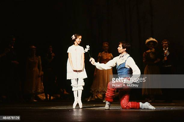 Russianborn French dancer Rudolf Nureyev dances with an unidentified cast member in Frank Ohman's New York Dance Theatre production of 'The...