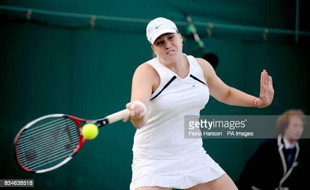 Russia's Aisa Kleybanova during her match against Slovakia's Daniela Hantuchova