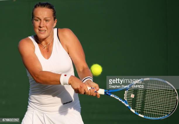 Russia's Anastasia Pavlyuchenkova in action against Czech Republic's Iveta Benesova