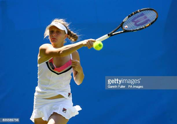 Russia's Anna Chakvetadze in action against Jelena Jankovic during the AEGON International at Devonshire Park Eastbourne