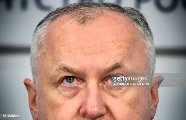 Russia's antidoping agency director general Yury Ganus attends a press conference in Moscow on November 16 2017 The World AntiDoping Agency...