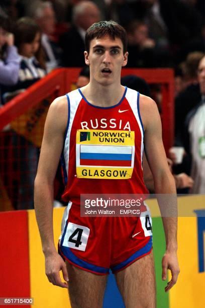 Russia's Dmitriy Bogdanov before the start of the men's 800m race