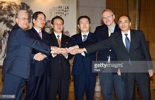Russia's envoy Alexander Losyukov South Korea's envoy Chun Yungwoo North Korea's Kim Gye Gwan China's ViceMinister of Foreign Affairs Wu Dawei US...