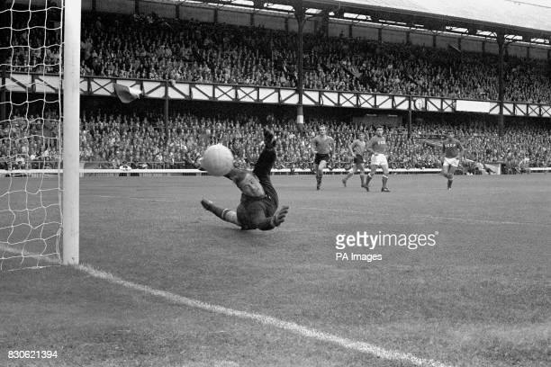 Russia's goalkeeper Lev Yashin makes a save from Italy's Sandro Mazzola during their Group 4 1966 World Cup match at Roker Park in Sunderland