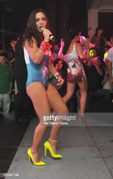 Russia's group Serebro perform at Le Rotonde on September 15 2012 in Garlasco Italy