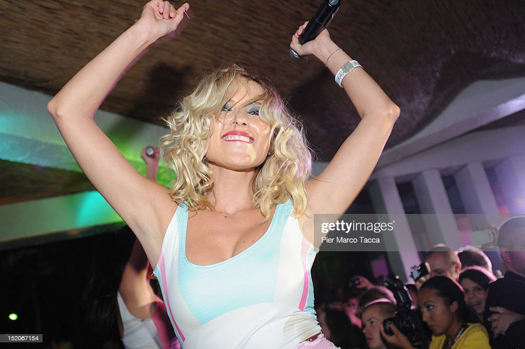 Russia's group Serebro perform at Le Rotonde on September 15, 2012 in Garlasco, Italy.