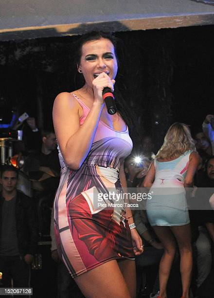 Russia's group Serebro performs at Le Rotonde on September 15 2012 in Garlasco Italy