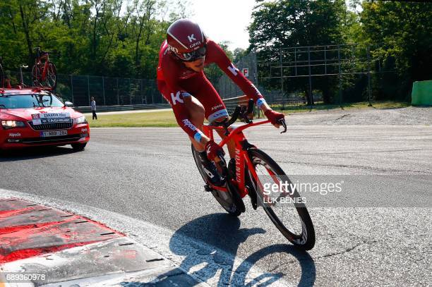 Russia's Ilnur Zakarin of team KatushaAlpecin competes during the Individual timetrial between Monza and Milan during the last stage of the 100th...