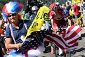 Russia's Ilnur Zakarin rides in a breakaway as fans cheer during the 160 km fifteenth stage of the 103rd edition of the Tour de France cycling race...