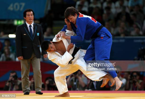Russia's Judo player Ivan Nifontov during his bronze medal win in the 81kg against Japan's Takahiro Nakai at the ExCel Arena London during day four...