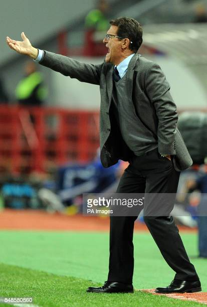 Russia's manager Fabio Capello during the 2014 Fifa World Cup Qualifing match at the Lokomotiv Stadium Moscow