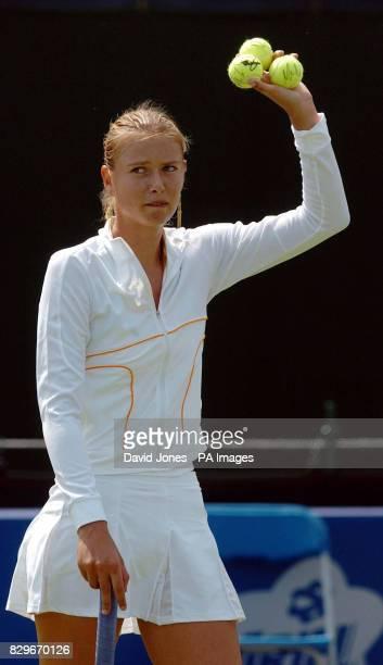 Russia's Maria Sharapova celebrates after her victory
