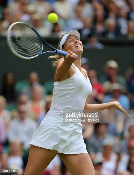 Russia's Maria Sharapova in action against Germany's Angelique Kerber