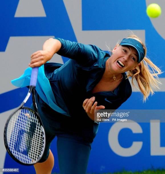 Russia's Maria Sharapova in action against USA's Alexa Glatch during day three of the AEGON Classic at Edgbaston Priory Birmingham