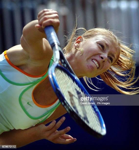 Russia's Maria Sharapova in action