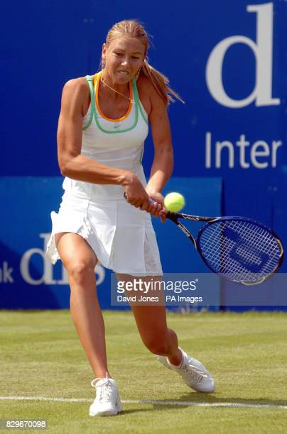 Russia's Maria Sharapova on her way to victory