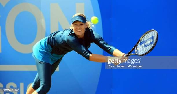 Russia's Maria Sharapova wins her rain delayed match against USA's Alexa Glatch during day four of the AEGON Classic at Edgbaston Priory Birmingham