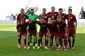 Russia's players poses for a team photo prior to the international friendly football match of Russia vs Czech Republic on June 1 2016 in Innsbruck...