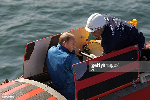 Russia's Prime Minister Vladimir Putin is seen after a dive into the depths of Lake Baikal on August 1 2009 Prime Minister Vladimir Putin Saturday...