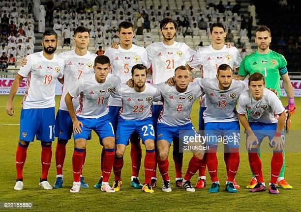 Russia's starting eleven midfielder Aleksandr Samedov striker Dmitri Poloz defender Viktor Vasin midfielder Aleksandr Erokhin defender Ilja Kutepov...