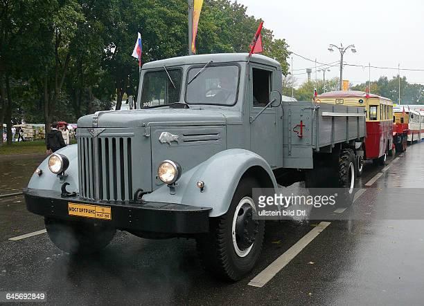 Russland Moskau Ausstellungszentrum WWZ früher WDNCh Moskauer Verkehrsbetriebe Mosgortrans Lastkraftwagen MAZ200 gebaut 19471966 Automobilwerk in...