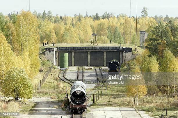 Russland Weltraumbahnhof Raketenstartgelaende Plessezk suedlich der Gebietshauptstadt Archangelsk